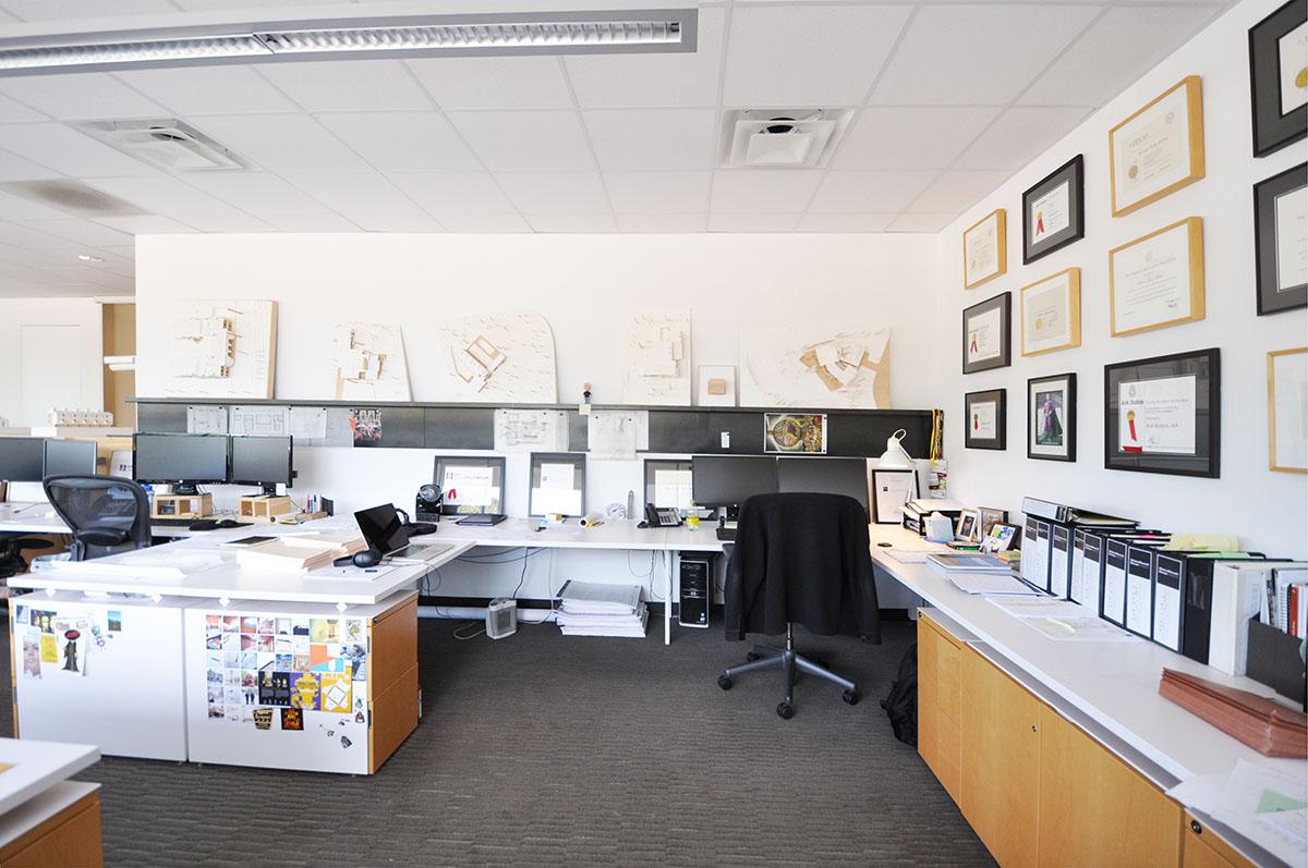 Malone Maxwell Borson Architect's Studio view Bob Borson's Desk