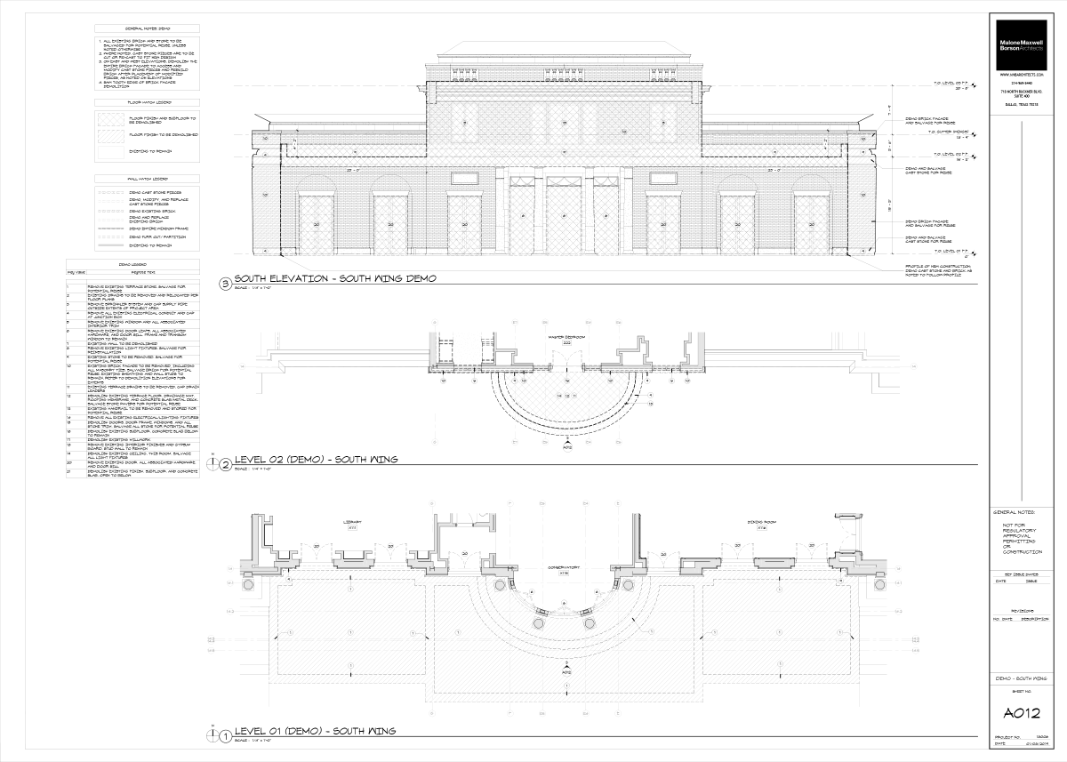 Estate Project - Demolition Drawing A012