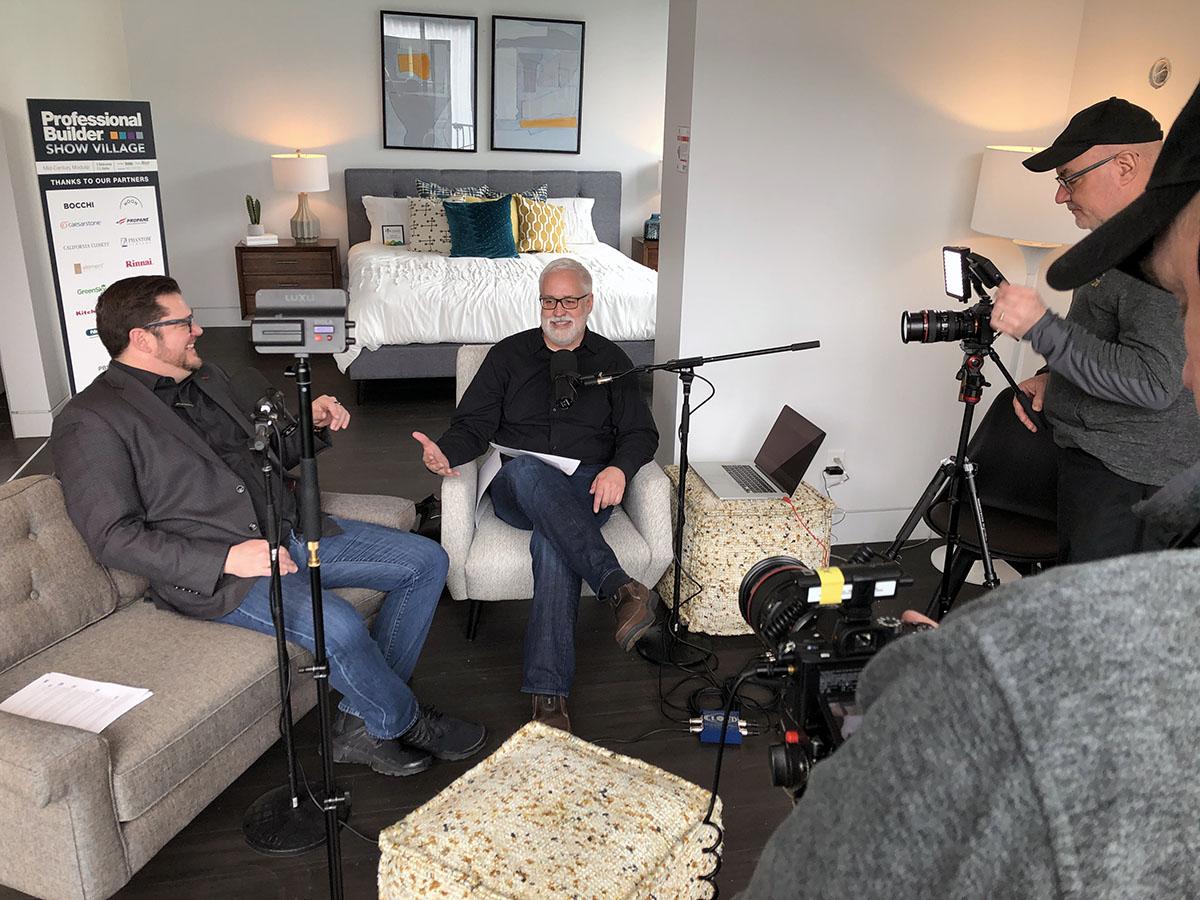 Bob Borson and Andrew Hawkins recording a podcast 01