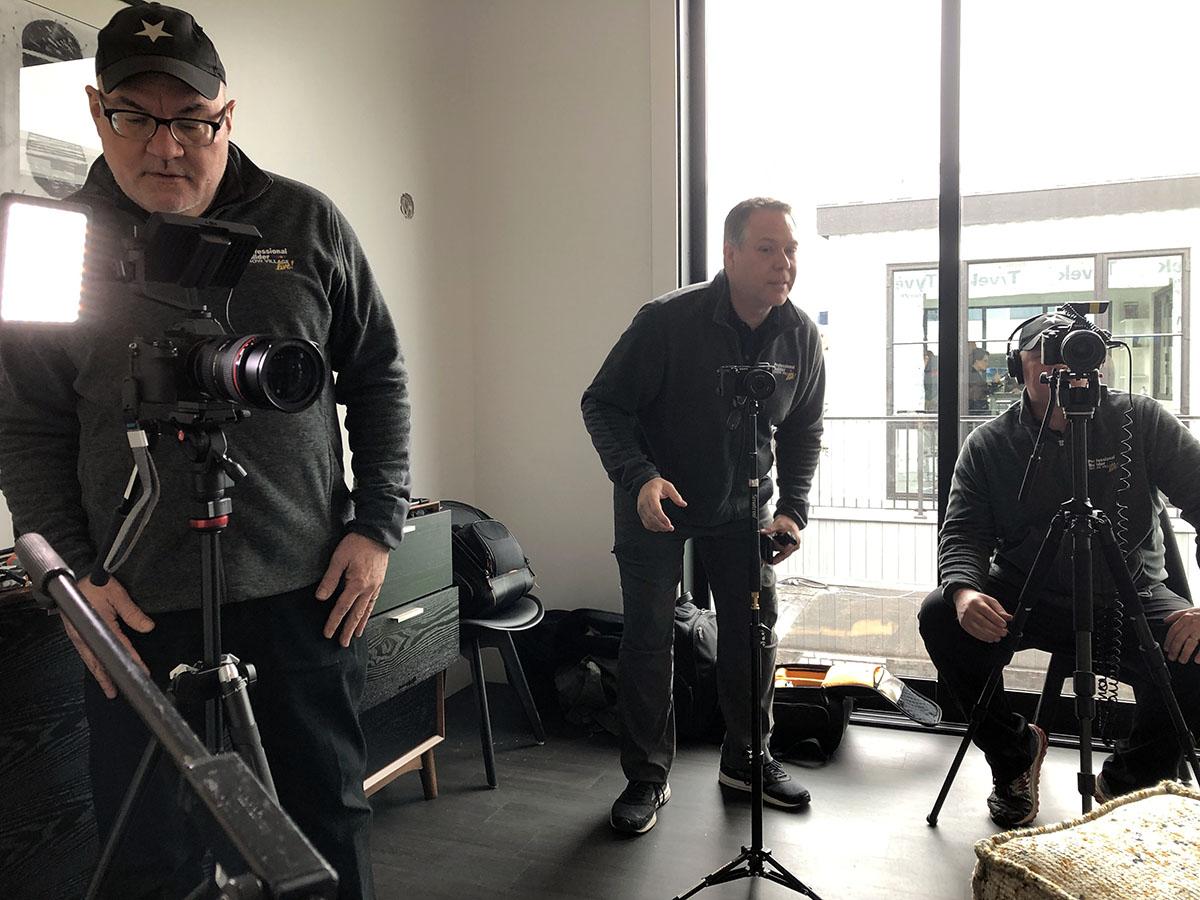 Bob Borson and Andrew Hawkins recording a podcast 02