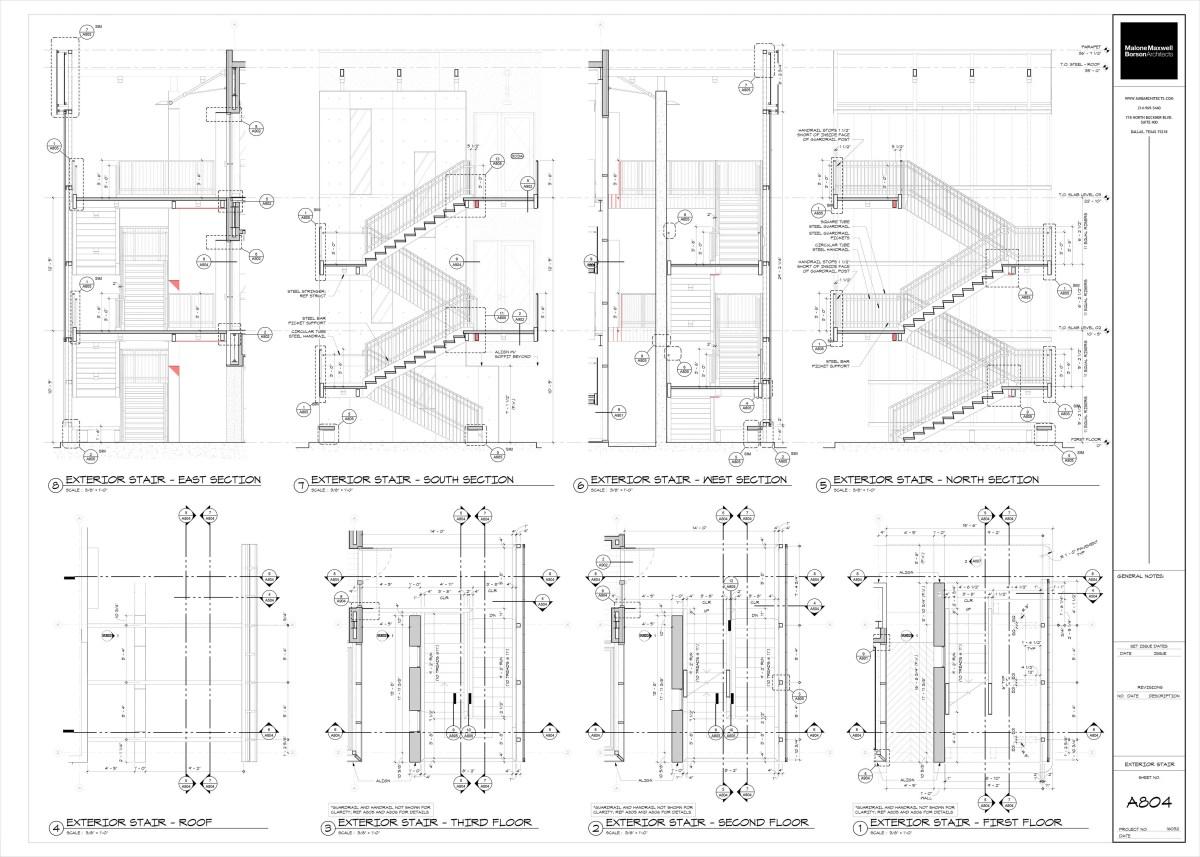 Oak Grove Stair Sections 01 by Bob Borson