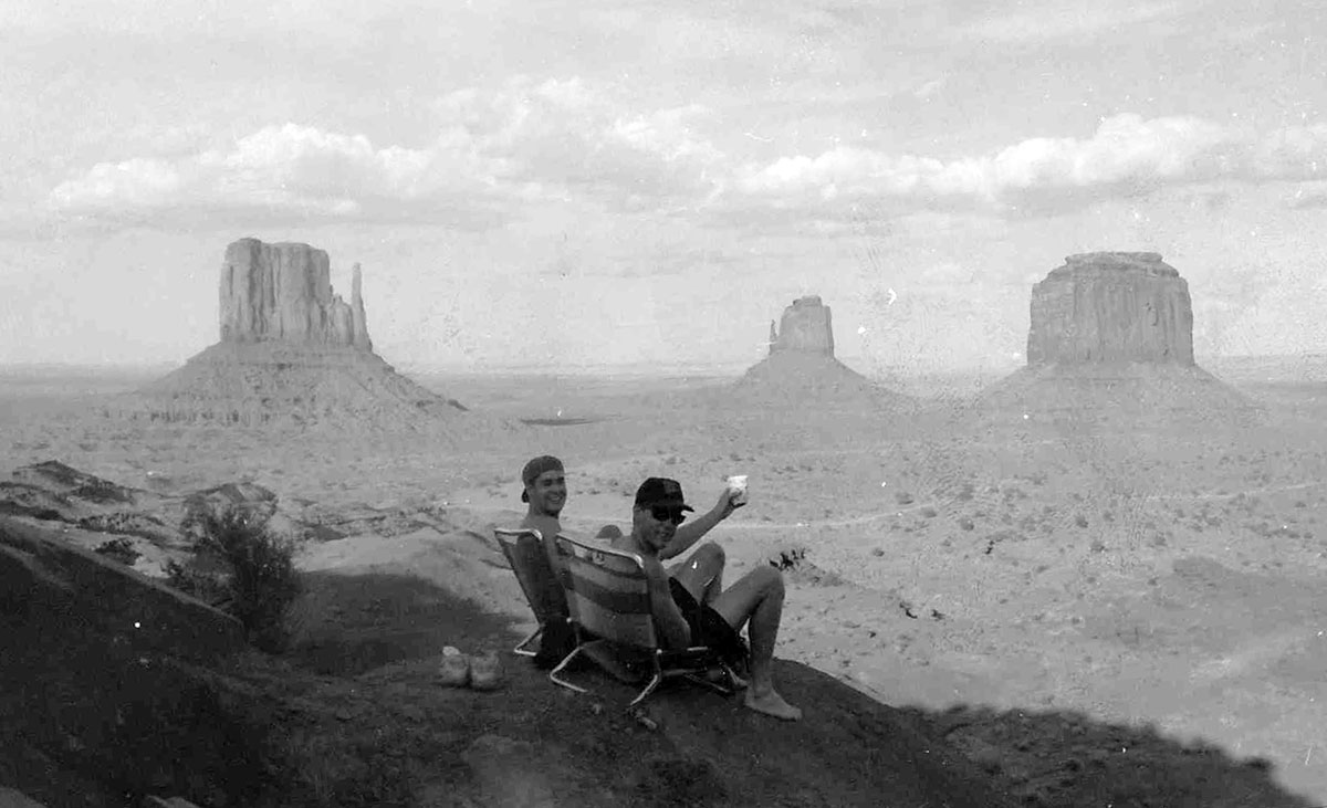 Bob Borson and Mike Buesing at Monument Valley (1992)