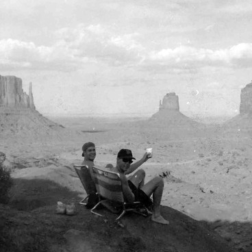 Bob Borson and Mike Buesing at Monument Valley