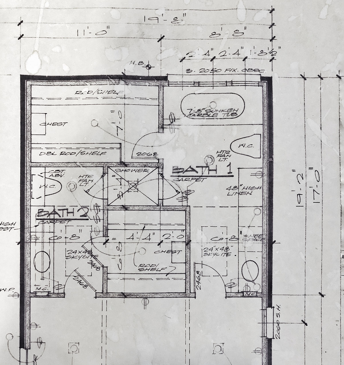 Master Bathroom Floor plan original