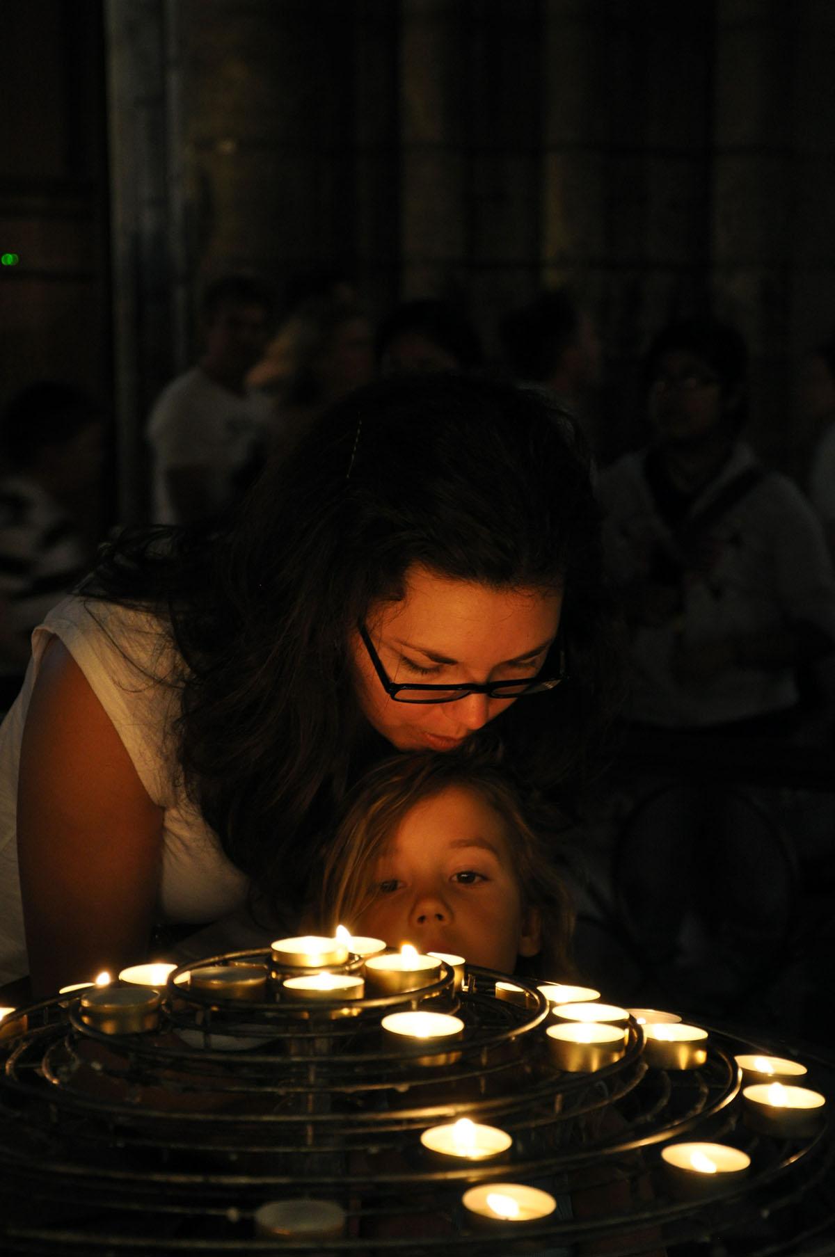 Michelle Borson and Kate Borson inside Notre Dame June 2010