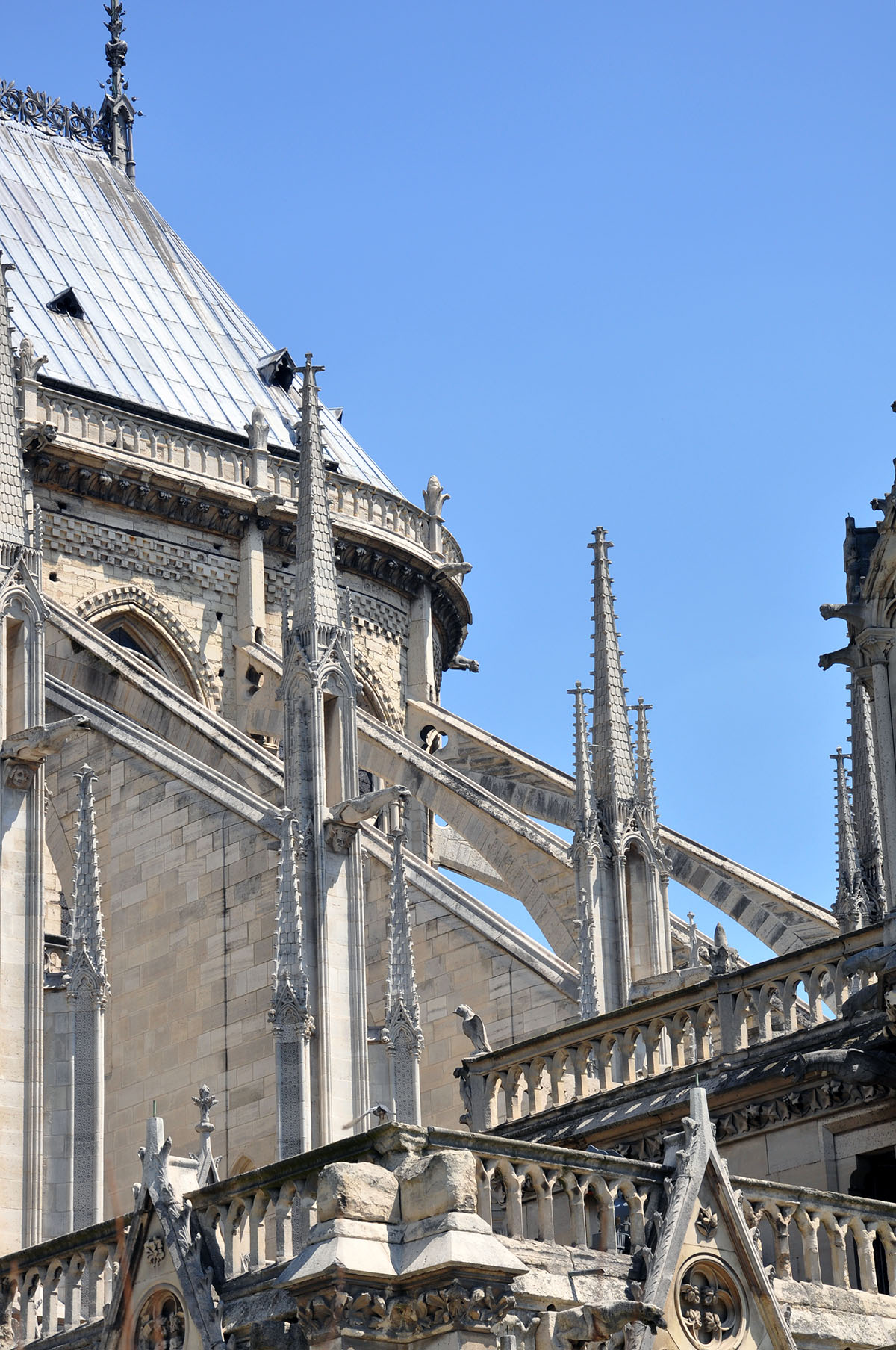 Notre Dame Cathedral flying buttress detail June 2010 photo by Bob Borson