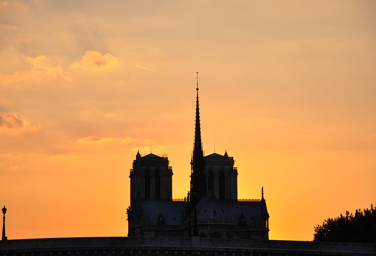 Notre Dame Cathedral night view from the Seine 02 June 2010 photo by Bob Borson
