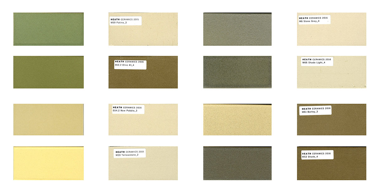 Oak Grove Toilet Room Tile Selections