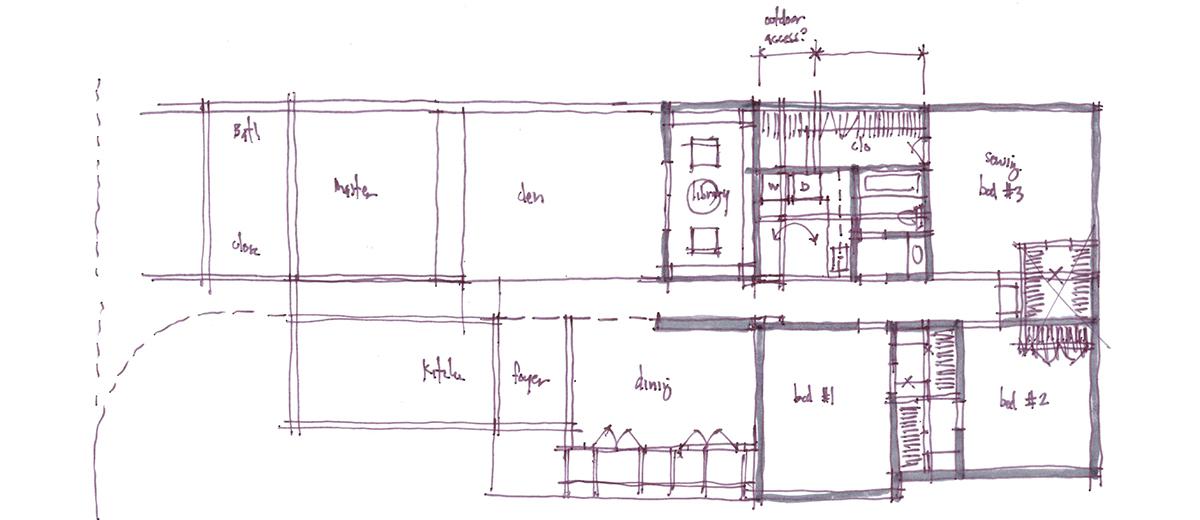 Architectural Sketch Series Schematic Design 03 by Bob Borson