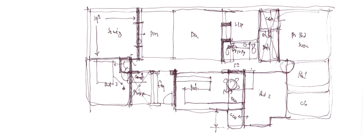 Architectural Sketch Series Schematic Design 05 by Bob Borson