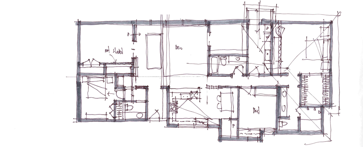 Architectural Sketch Series Schematic Design 06 by Bob Borson
