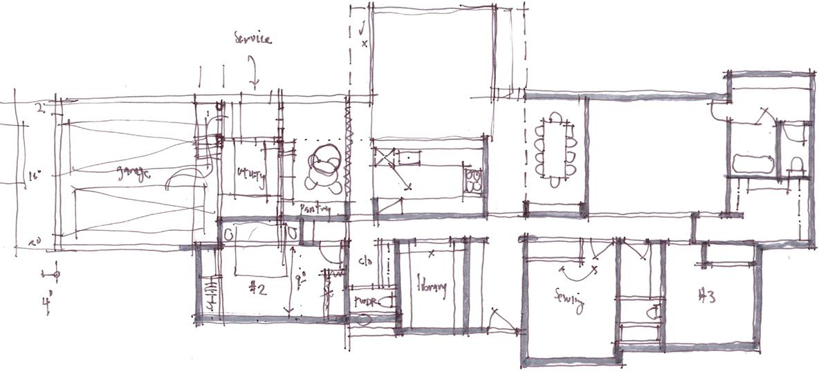 Architectural Sketch Series Schematic Design 10 by Bob Borson