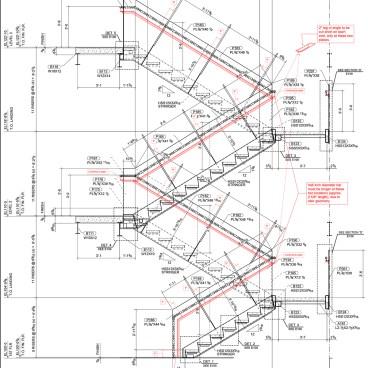 Work214 Stair Handrail Shop Drawings 01