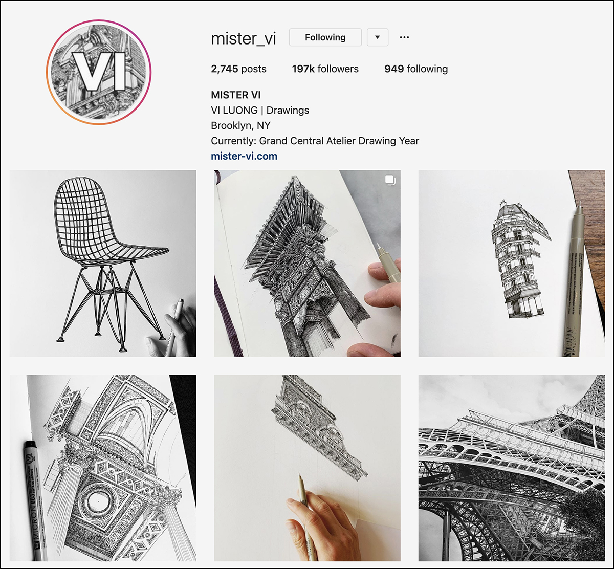 mister_vi Instagram account - good for sketching