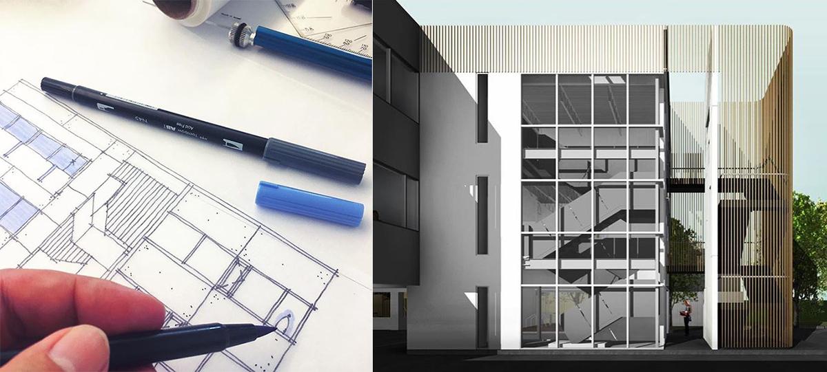 Original Design Concepts for Oak Grove Stair Enclosure