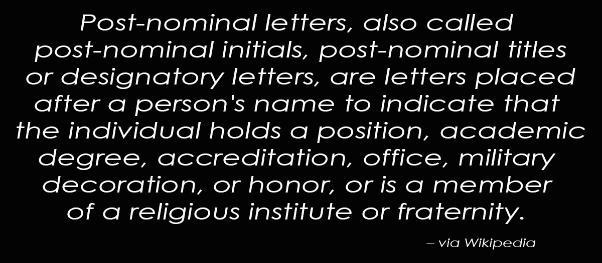 Post nominal definition