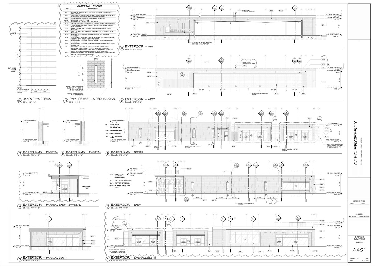 Construction Drawings - Exterior Elevations [copyright Bob Borson]
