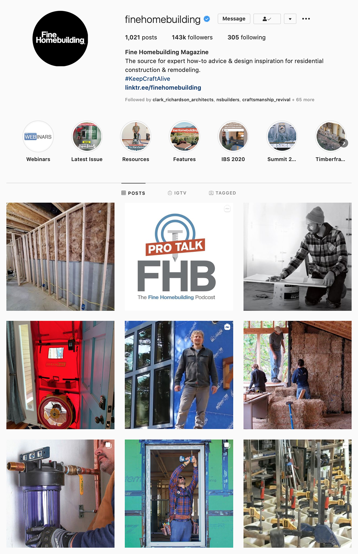 Best Construction Instagram Accounts FineHome Building