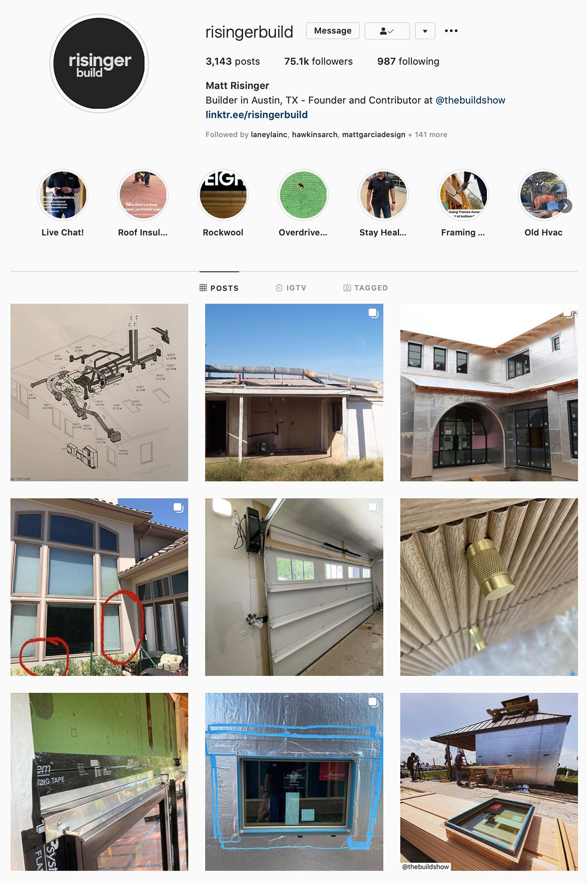 Best Construction Instagram Accounts Risinger Build