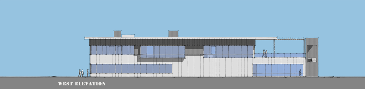 West Elevation - SketchUp model by Bob Borson