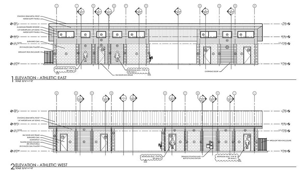 Athletic Park Restroom Elevations