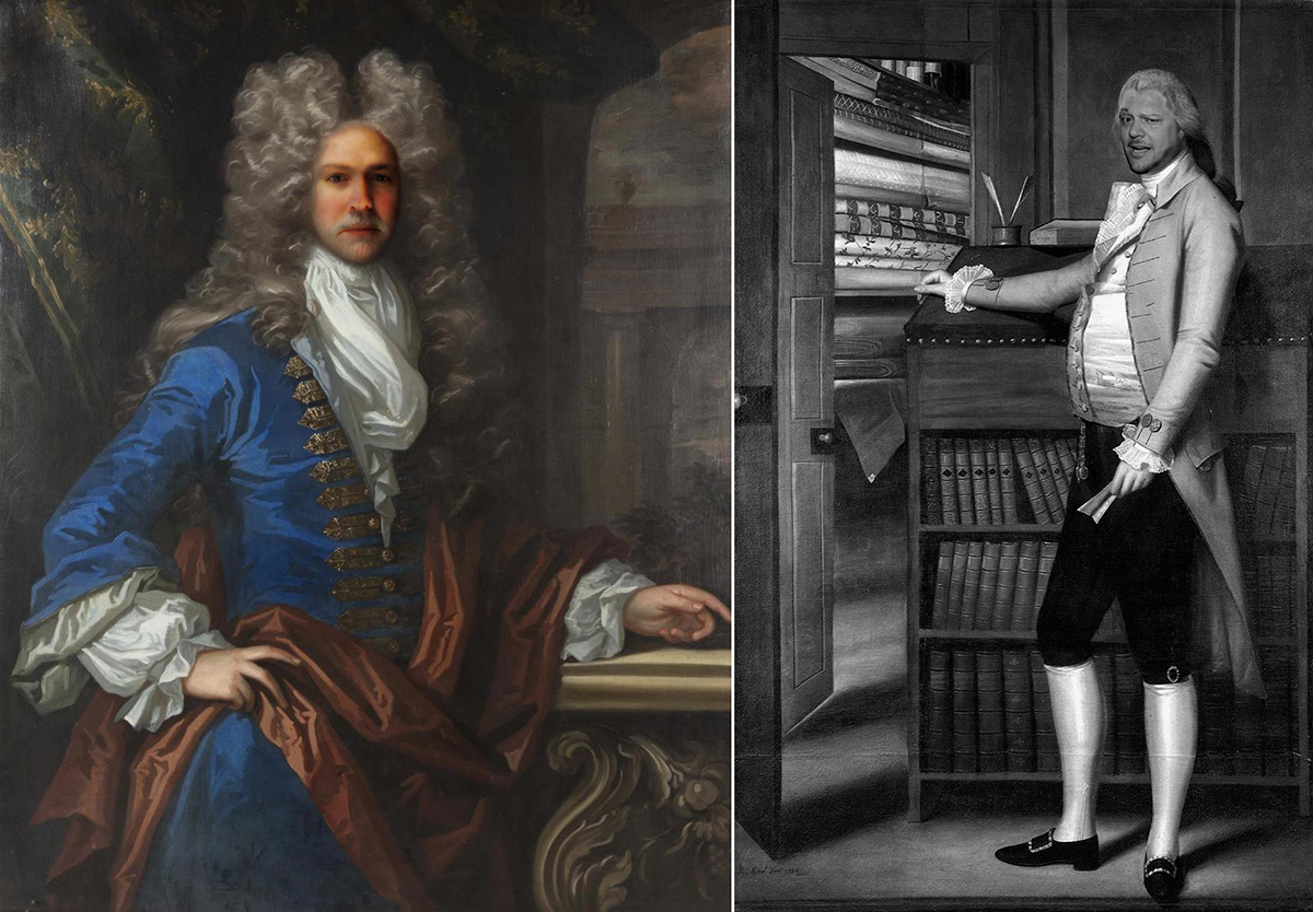 Bob Borson and Andrew Hawkins 18th Century Gentlemen