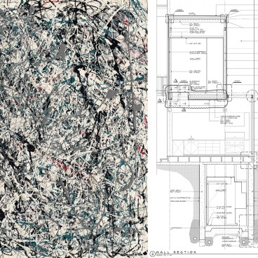 Jackson Pollock painting and Construction Drawings