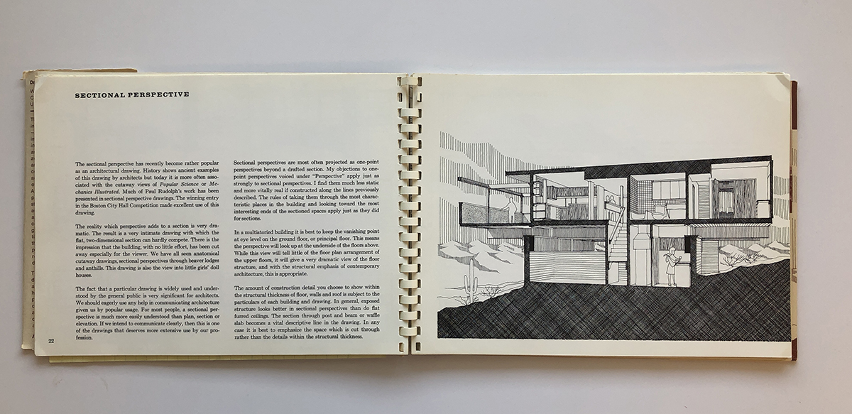 Drawing as a Means to Architecture - Sectional Perspectives by William Kirby Lockard