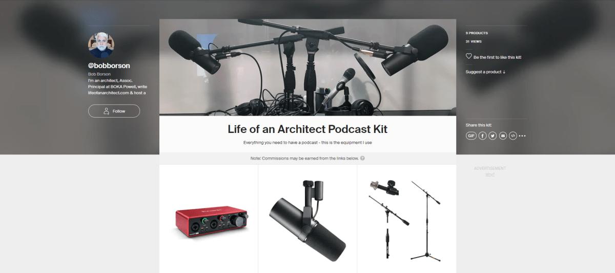LoaA Podcast Kit on kit.co