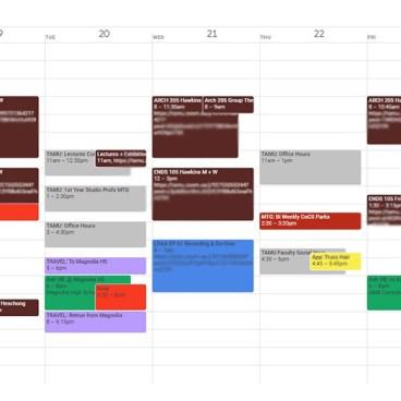 Andrew Weekly Calendar