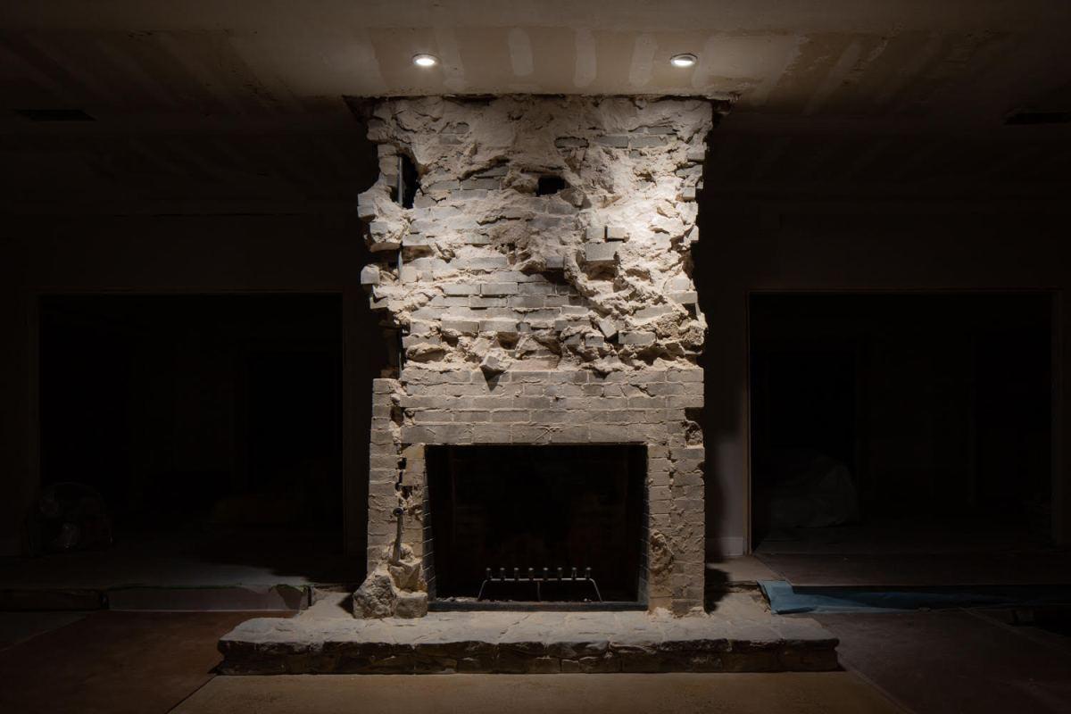 Borson Demolished Fireplace by Poul Ober