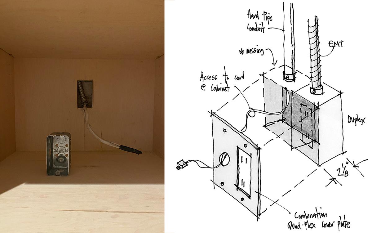 Cabinet outlet sketch