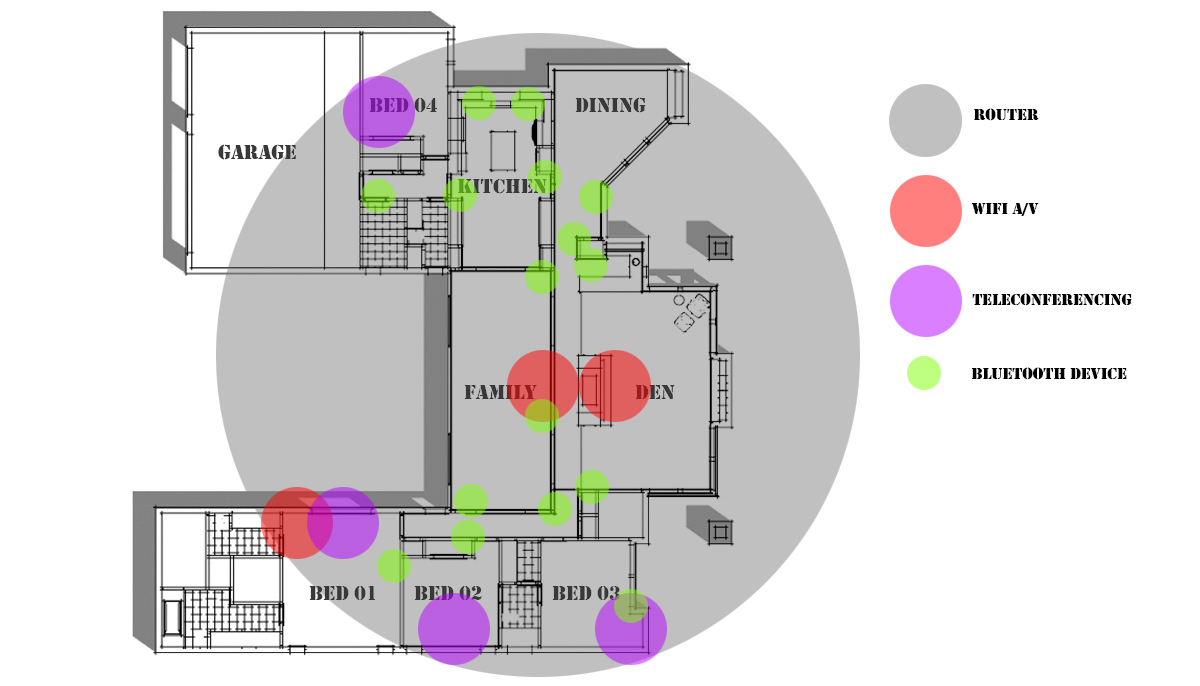 house plan view for wifi layout