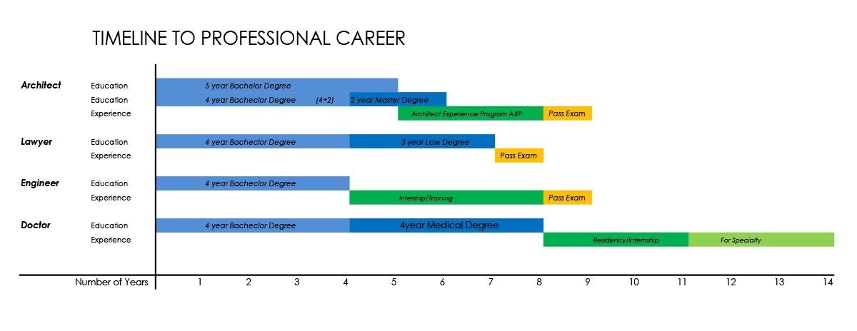Architecture Professional Career Timeline