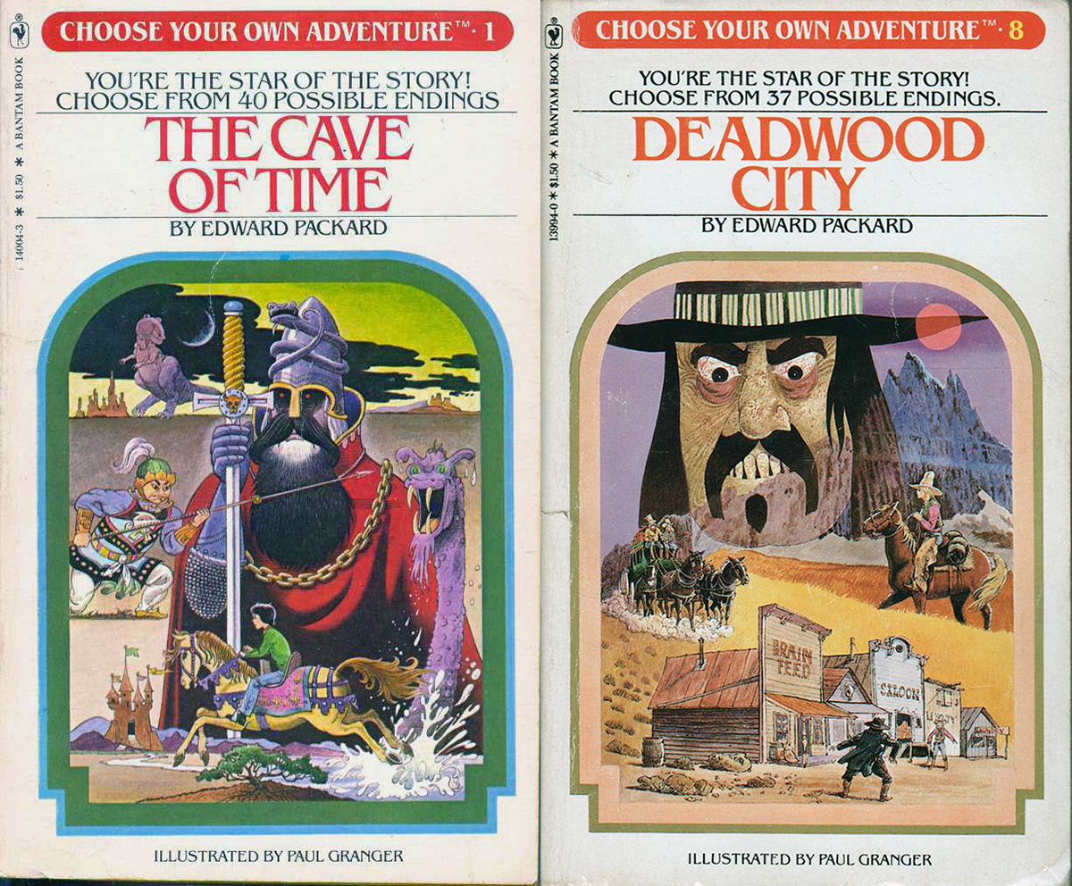 Choose Your Own Adventure book covers