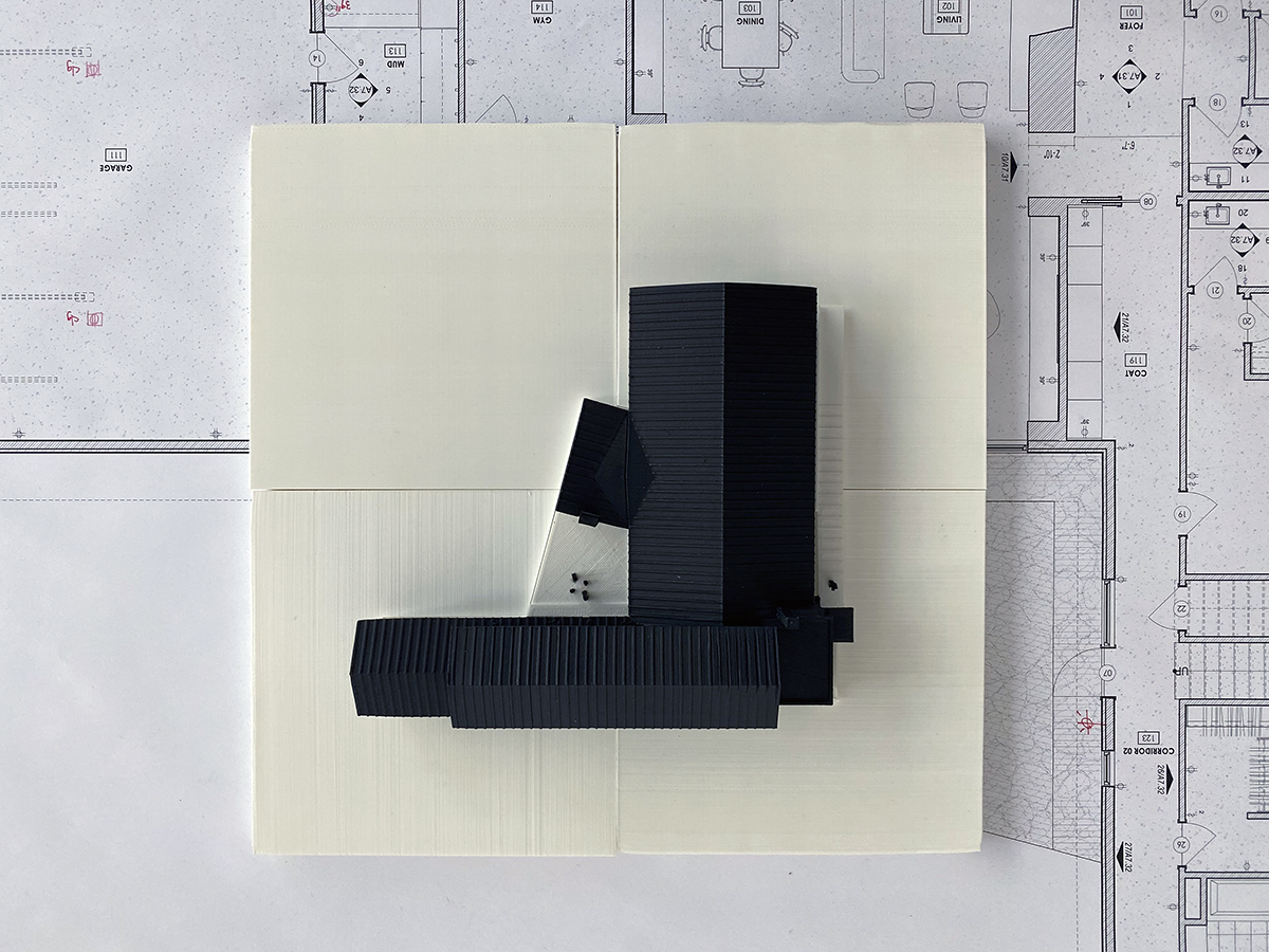 3D Model Site Plan with House Plan View 01