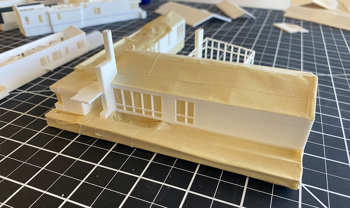 Masking of the model for painting 01