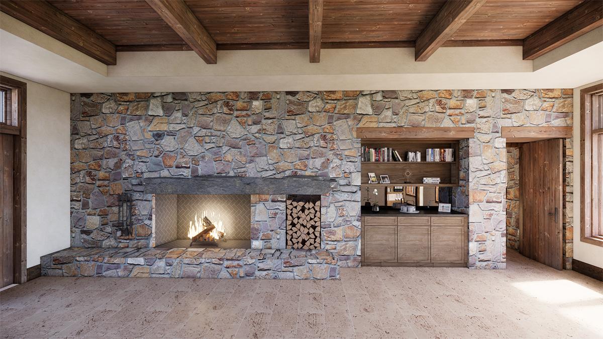 Master Bedroom - Fireplace Option - Renderings for Residential Design