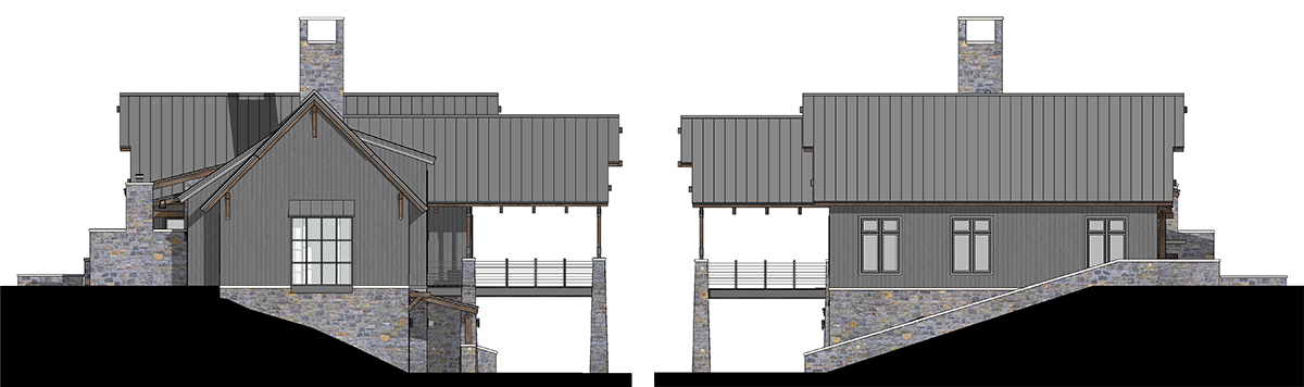 West Elevation 2D - Renderings for Residential Design