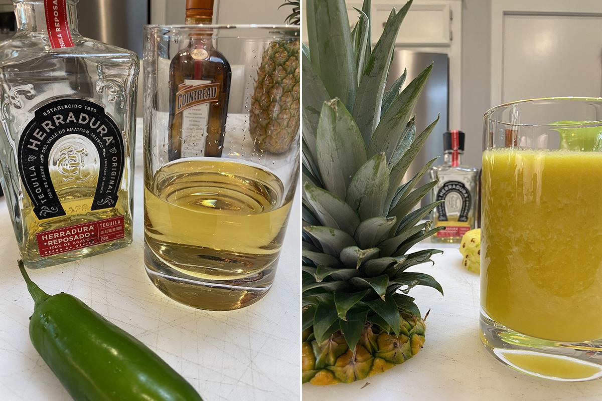 The Borson Tejas Pineapple Margarita prep work 01 - Happy Hour at the Borson House