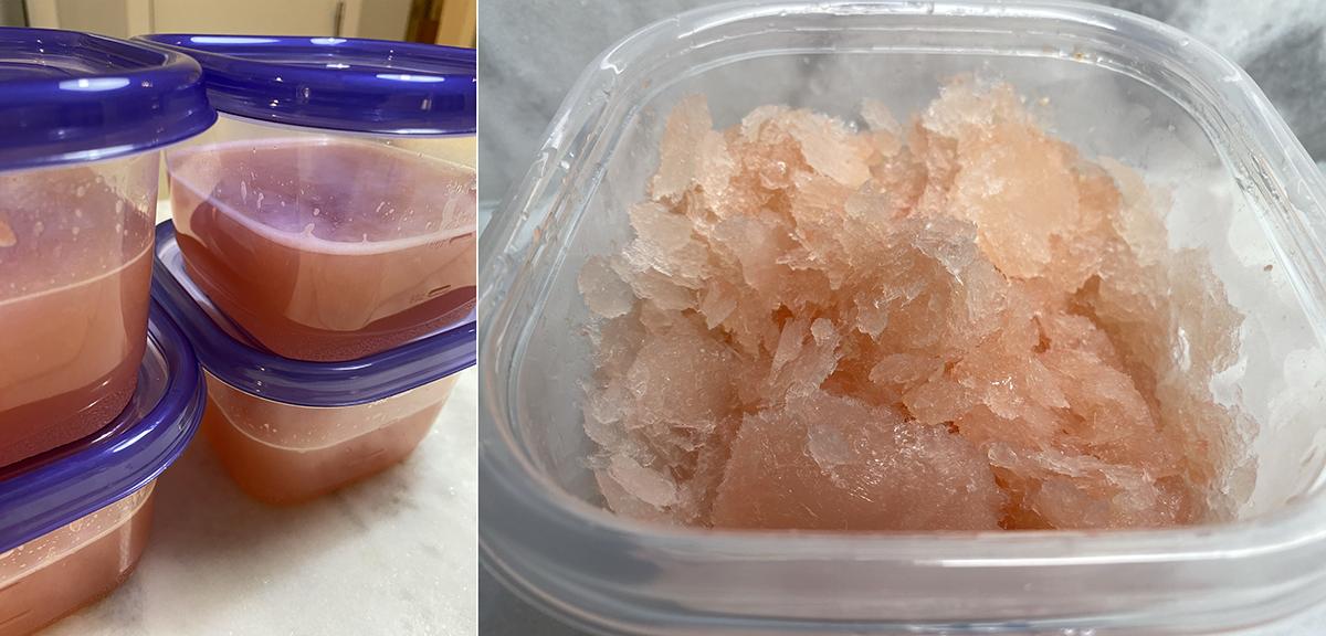frozen grapefruit Paloma mixture - Happy Hour at the Borson House