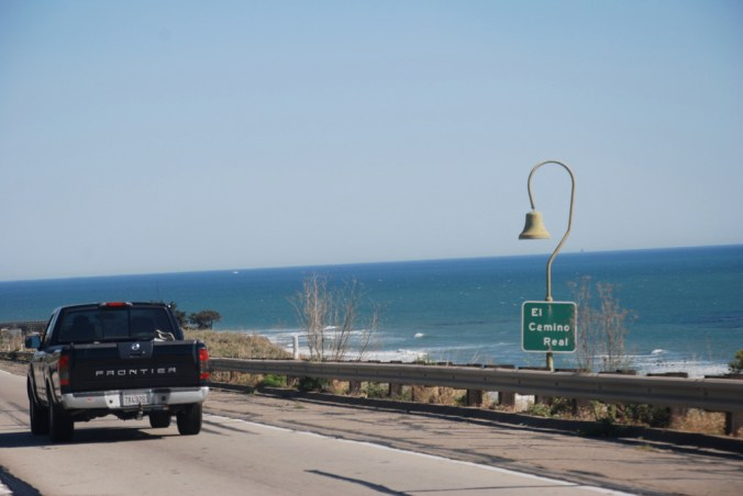 The El Camino Real bells line the Pacific Coast Highway. Photo by Eric Chan on Flickr.