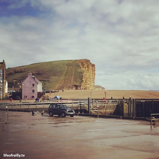 The famous Broadchurch cliffs at West Bay in Dorset