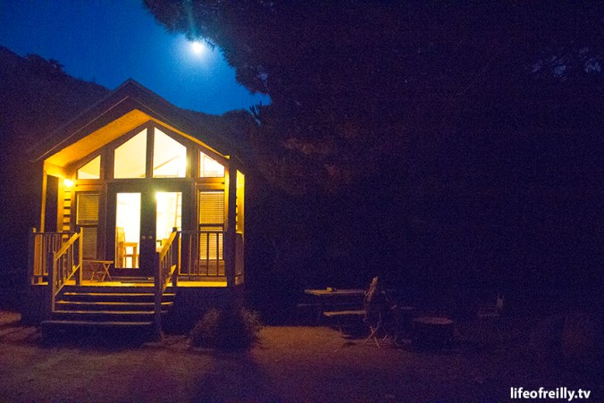 Our cabin at the El Capitan Canyon camping resort and spa! All of the fun of camping with all of your home comforts!