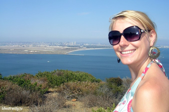 Alicia at the Cabrillo National Monument at one of the most Southern tips of San Diego.