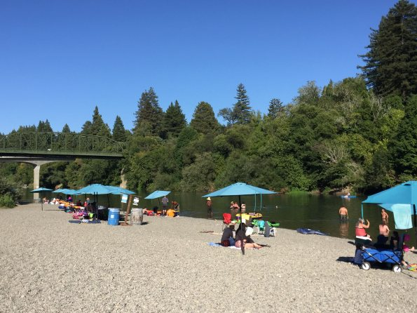 Johnson's Beach on the Russian River at Guerneville, California