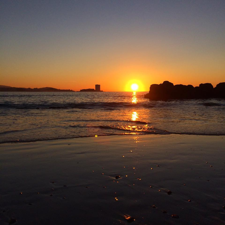 beach, playa, sunset, puesta del sol, winter,galicia