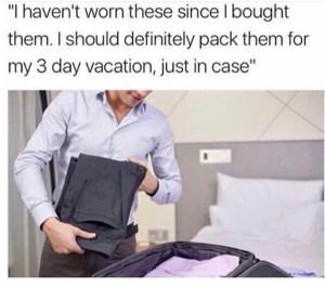 meme, funny, blog, packing, travel