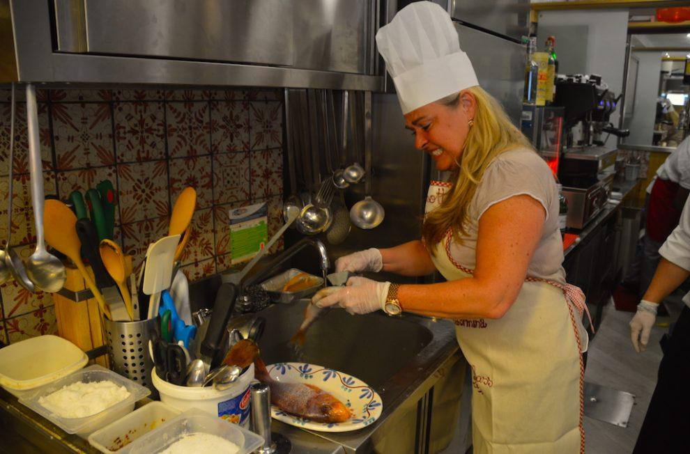 taking a cooking class in Taormina