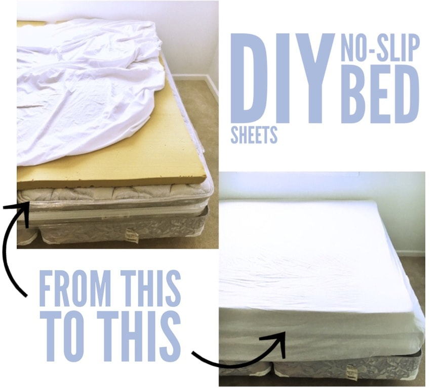 DIY No-Slip Bed Sheets